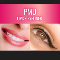 permanent makeup of lips and eyeliner training