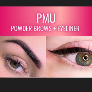 training in permanent makeup eyeliner and powder ombre brows